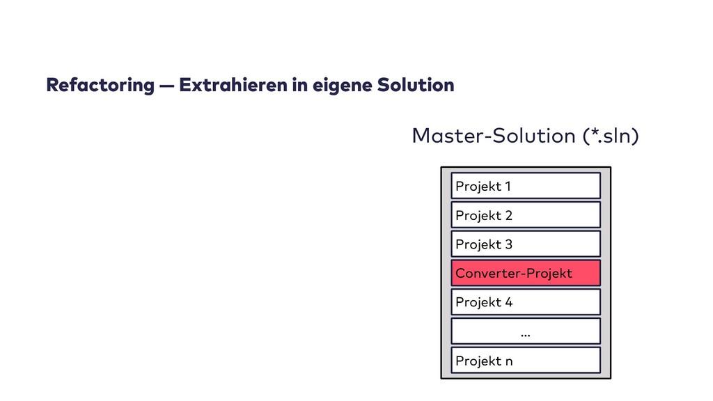 Refactoring — Extrahieren in eigene Solution Ma...