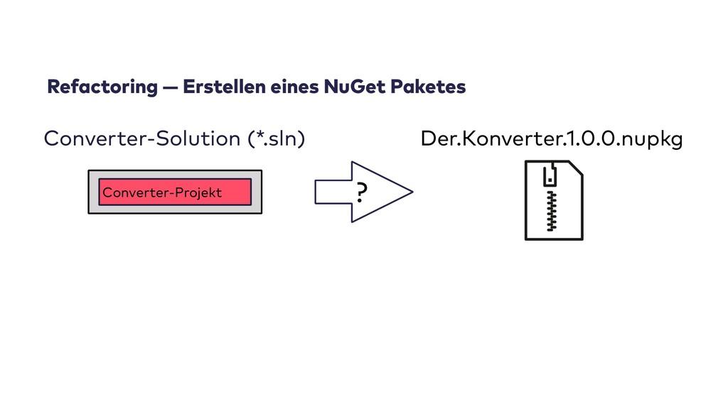 Refactoring — Erstellen eines NuGet Paketes Der...