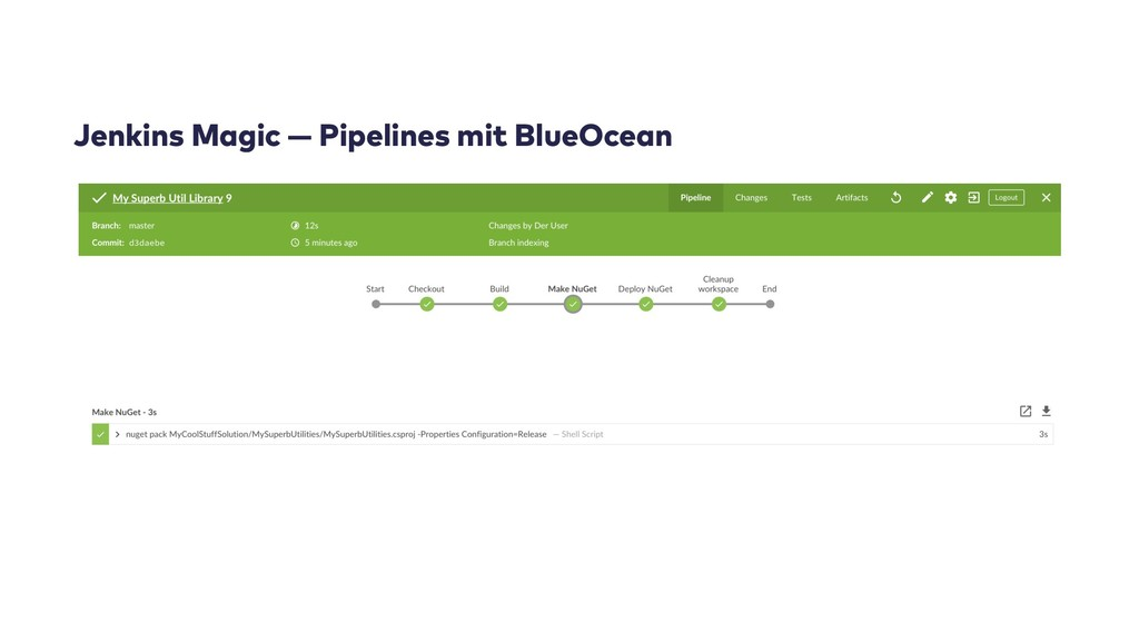 Jenkins Magic — Pipelines mit BlueOcean