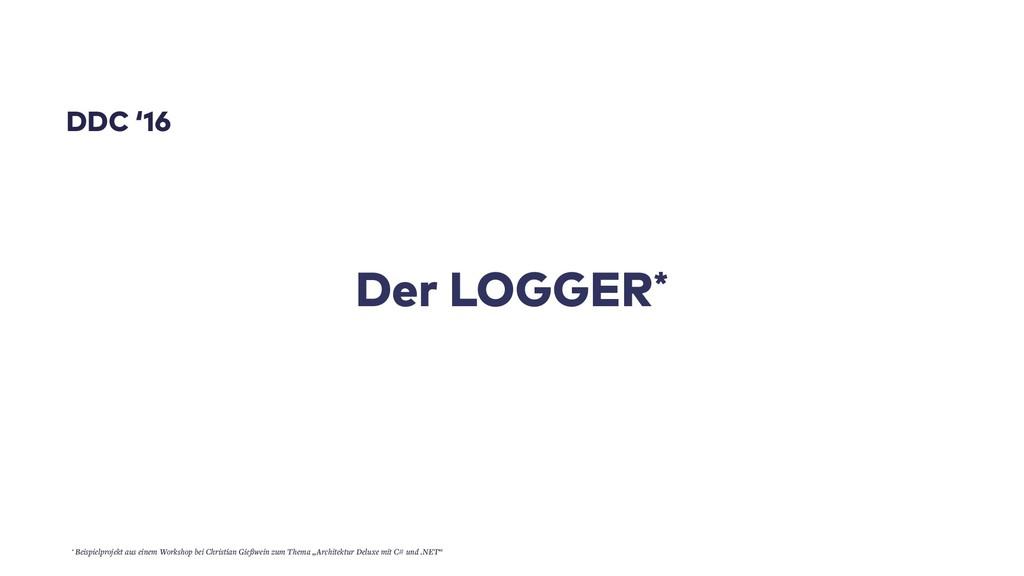 Der LOGGER* DDC '16 * Beispielprojekt aus einem...