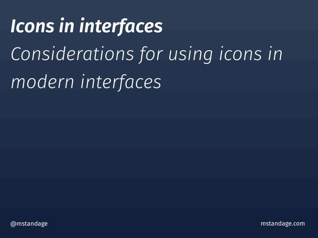 @mstandage mstandage.com Icons in interfaces Co...