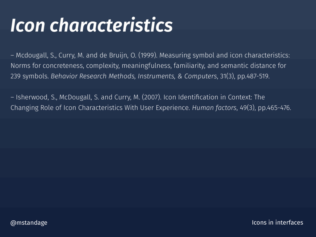 Icon characteristics @mstandage Icons in interf...