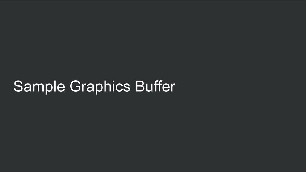 Sample Graphics Buffer