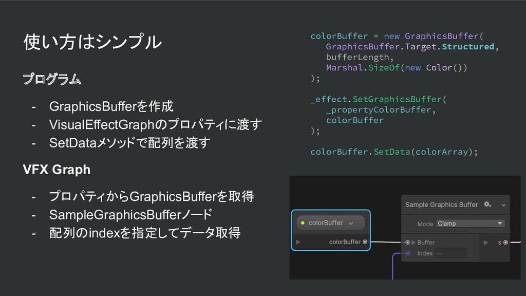 使い方はシンプル プログラム - GraphicsBufferを作成 - VisualEffe...