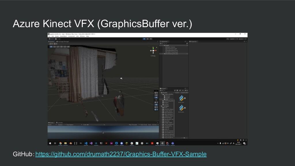 Azure Kinect VFX (GraphicsBuffer ver.) GitHub:h...