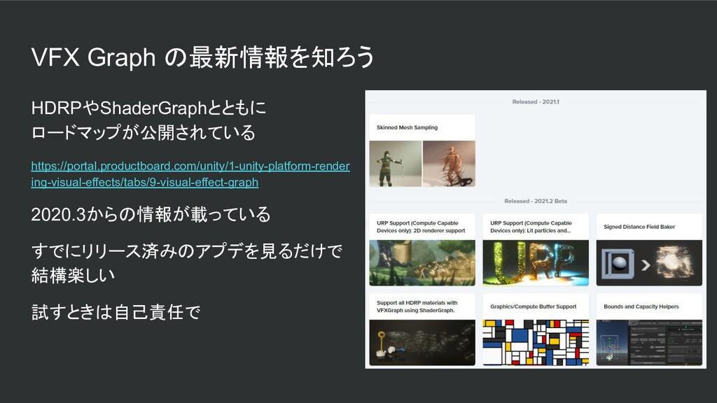 VFX Graph の最新情報を知ろう HDRPやShaderGraphとともに ロードマップ...