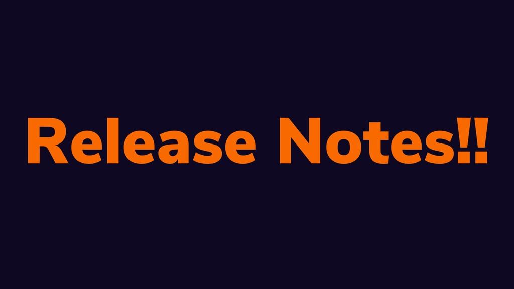 W: rbrt.wllr.info | T: @RobDWaller Release Note...