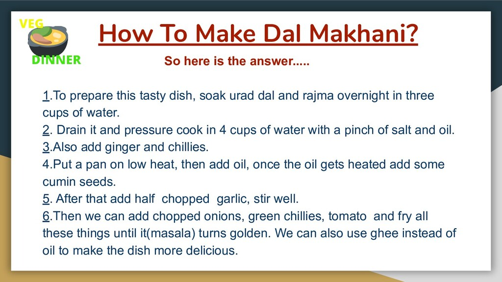 How To Make Dal Makhani? So here is the answer....