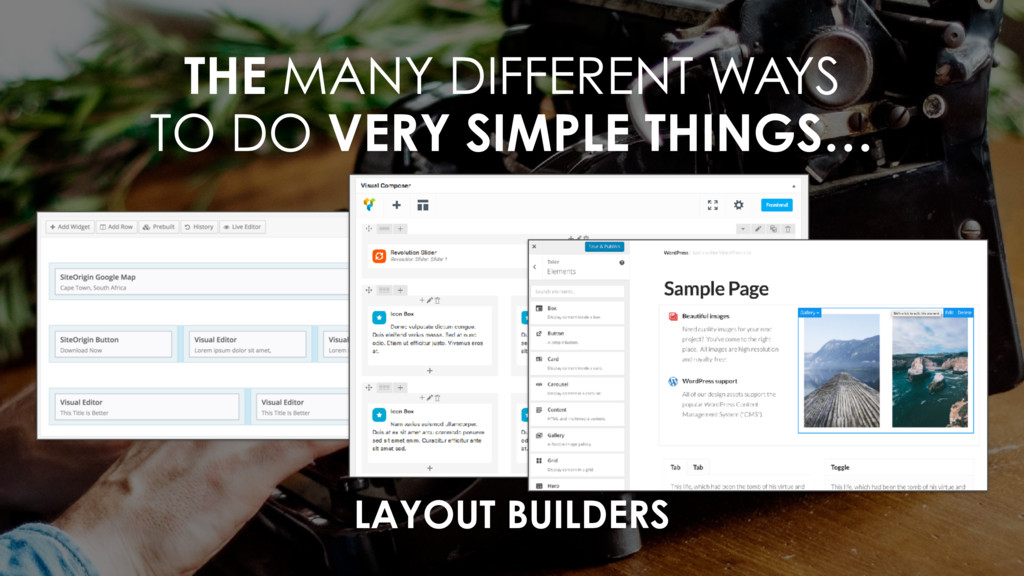 THE MANY DIFFERENT WAYS  TO DO VERY SIMPLE THI...