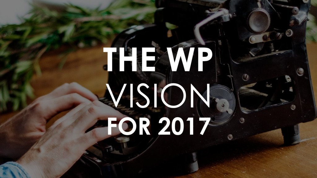 THE WP  VISION  FOR 2017