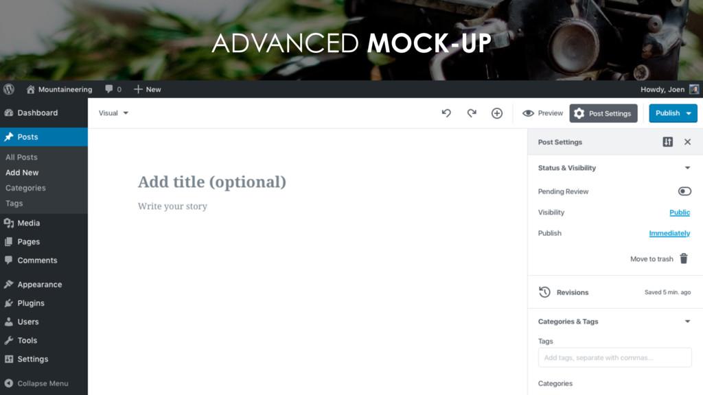 ADVANCED MOCK-UP