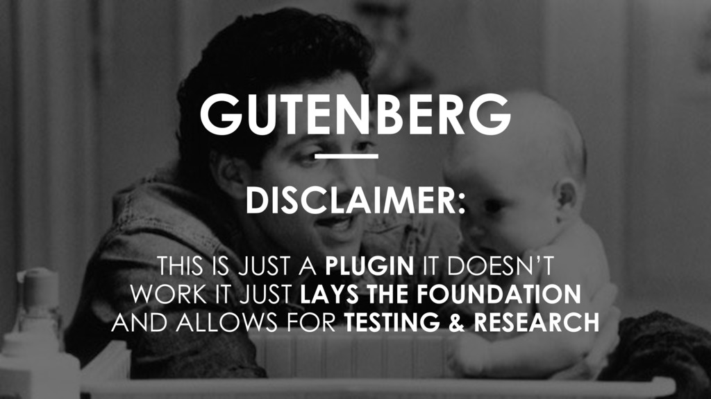 GUTENBERG DISCLAIMER:  THIS IS JUST A PLUGIN...