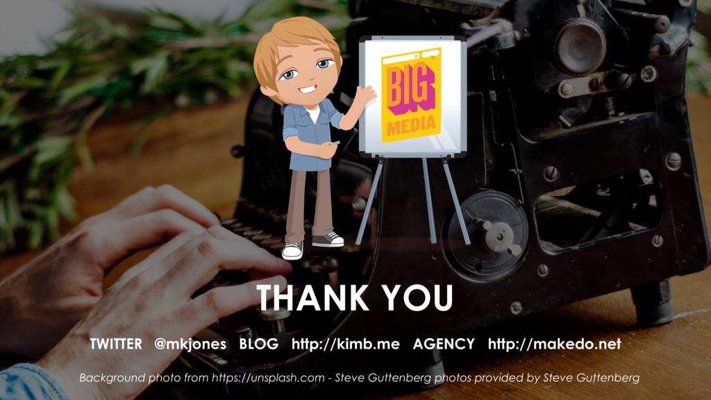 THANK YOU TWITTER @mkjones BLOG http://kimb.me ...