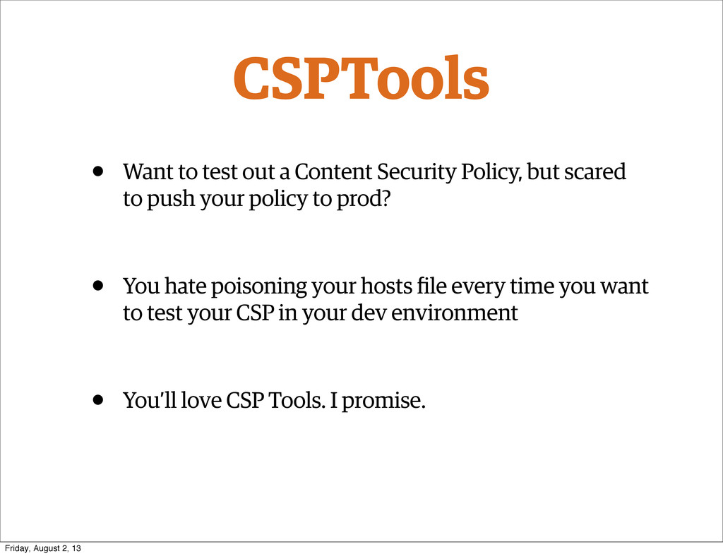 CSPTools • Want to test out a Content Security ...