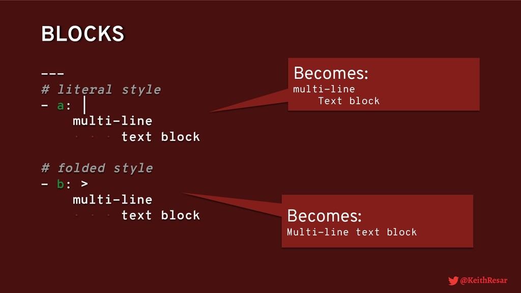 @KeithResar BLOCKS --- # literal style - a:   m...