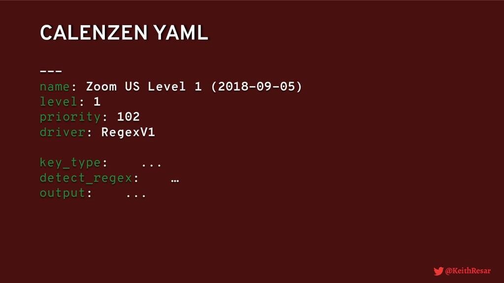@KeithResar CALENZEN YAML --- name: Zoom US Lev...