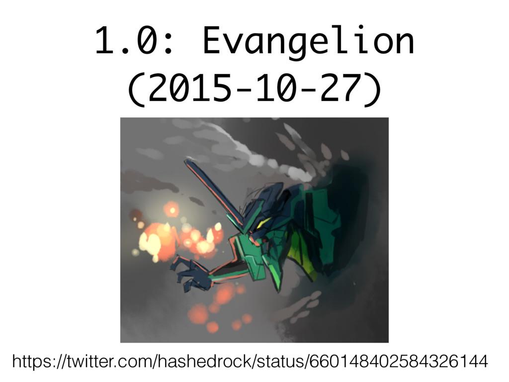 1.0: Evangelion (2015-10-27) https://twitter.co...