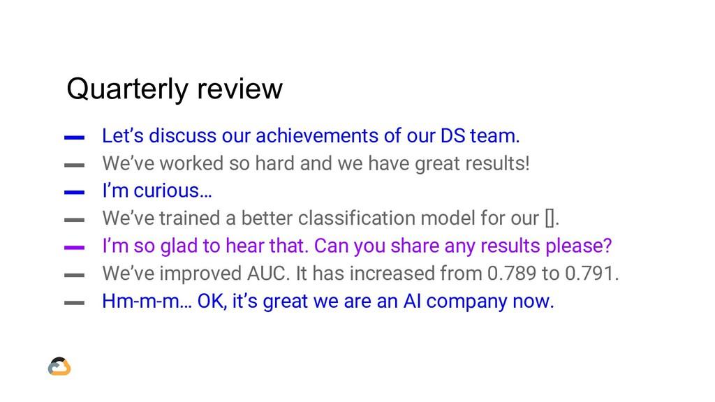 Quarterly review ▬ Let's discuss our achievemen...