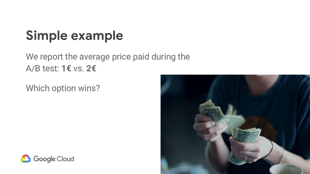 Simple example We report the average price paid...
