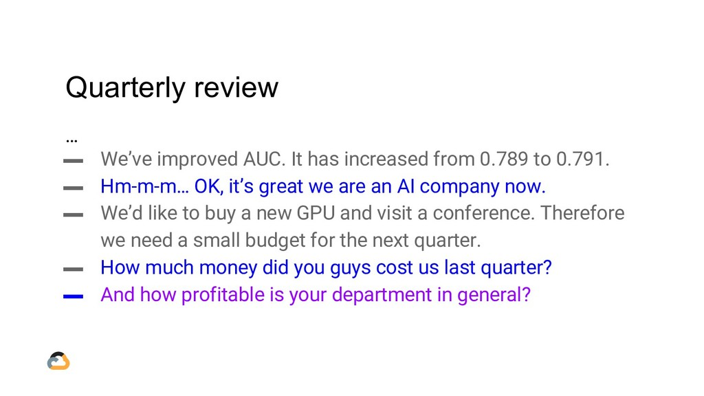 Quarterly review … ▬ We've improved AUC. It has...