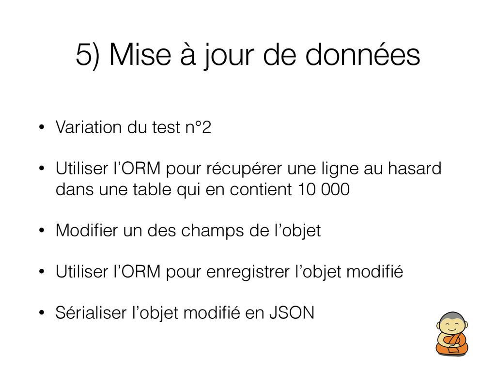 5) Mise à jour de données • Variation du test n...