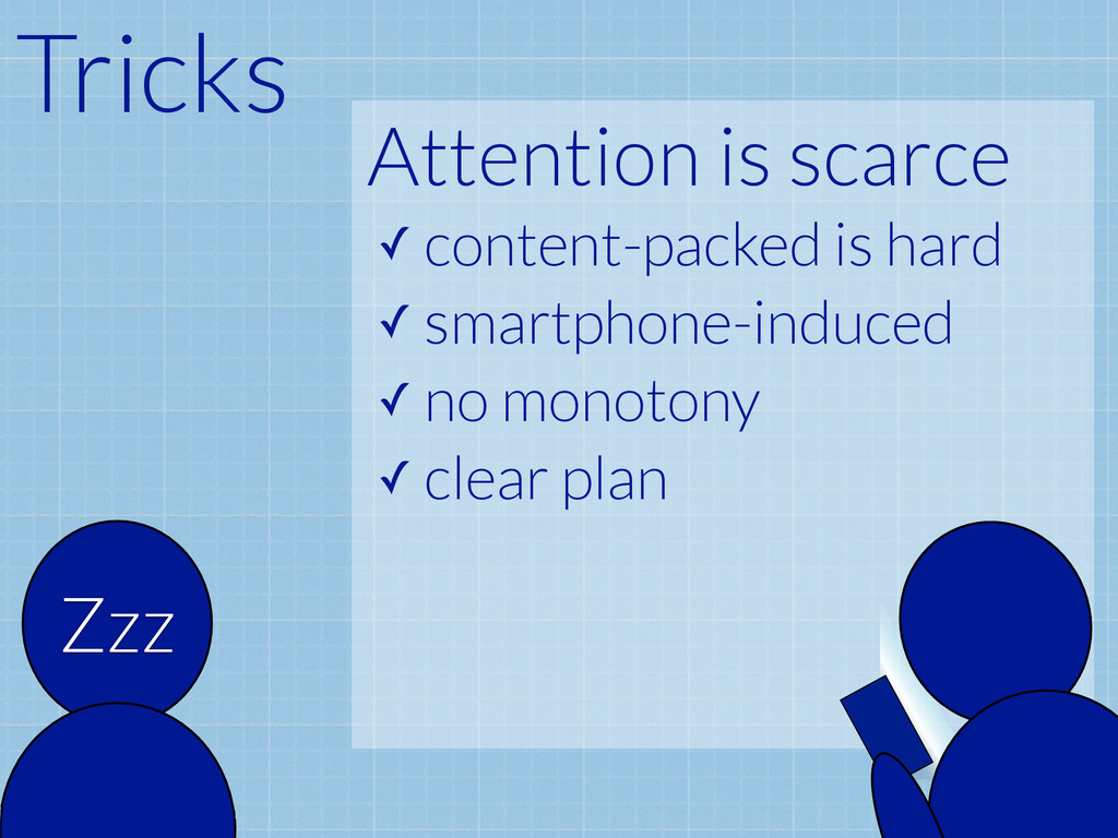 Attention is scarce ✓ content-packed is hard ✓ ...