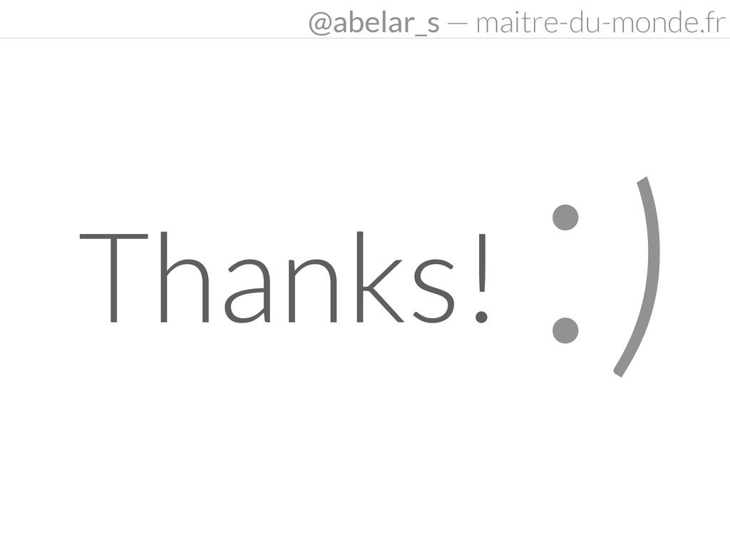 :) Thanks! @abelar_s — maitre-du-monde.fr