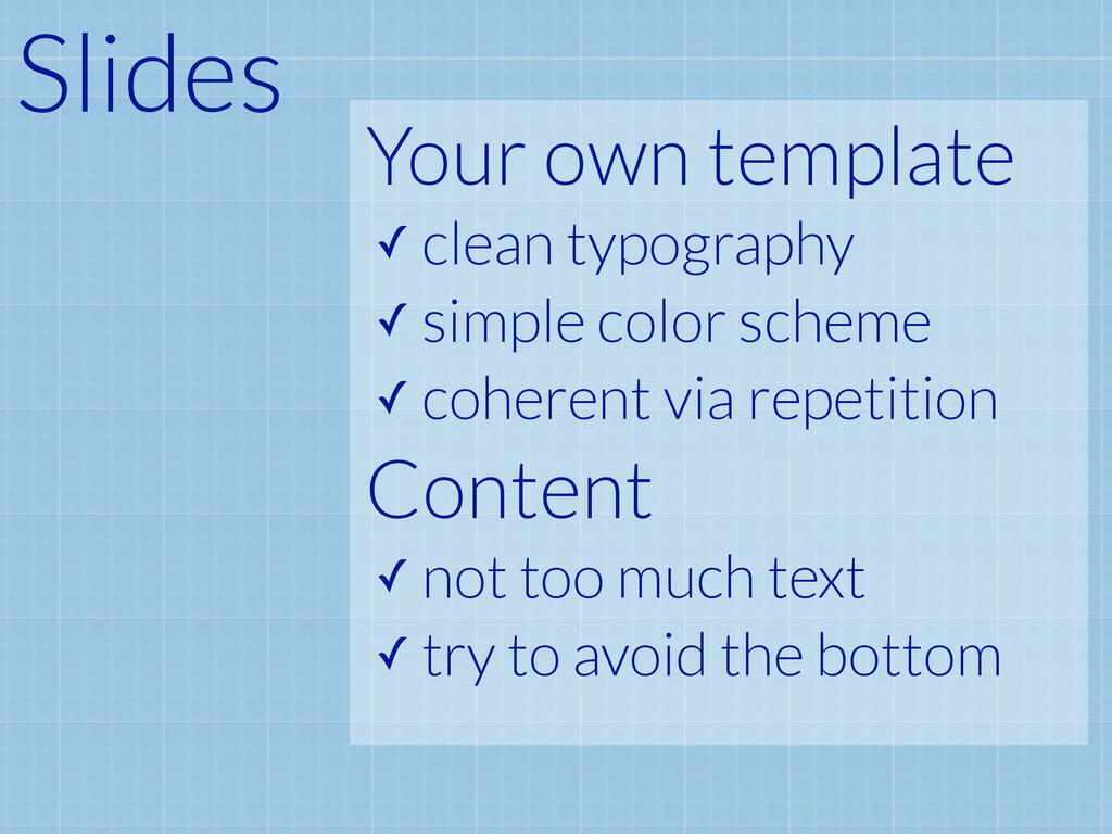 Your own template ✓ clean typography ✓ simple c...