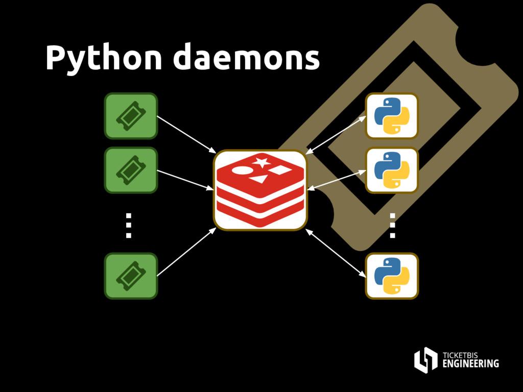 Python daemons . . . . . .