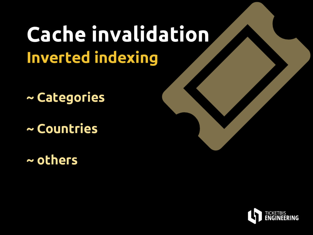 Cache invalidation Inverted indexing ~ Categori...