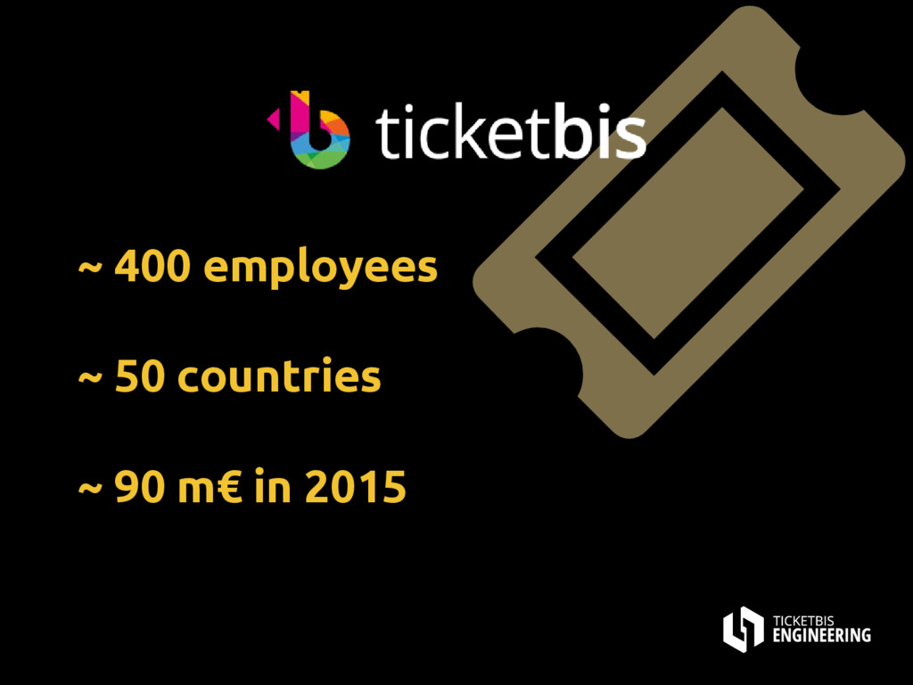 ~ 400 employees ~ 50 countries ~ 90 m€ in 2015