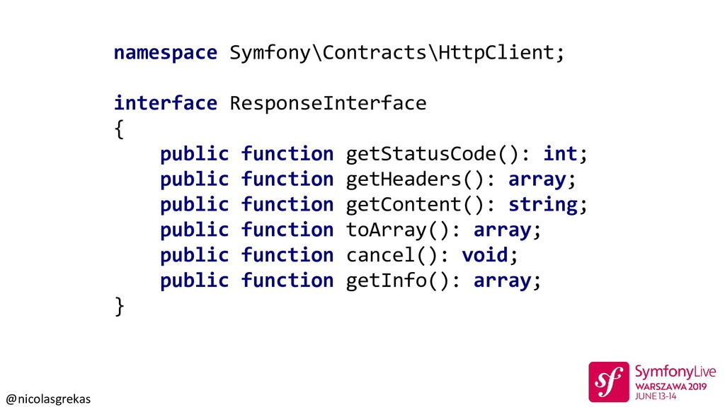 @nicolasgrekas namespace Symfony\Contracts\Http...