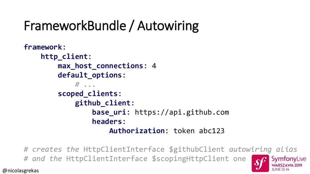 @nicolasgrekas FrameworkBundle / Autowiring fra...