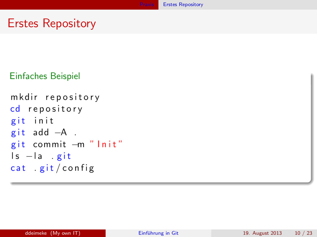 Praxis Erstes Repository Erstes Repository Einf...