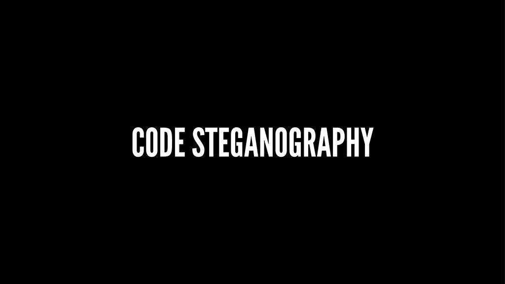 CODE STEGANOGRAPHY