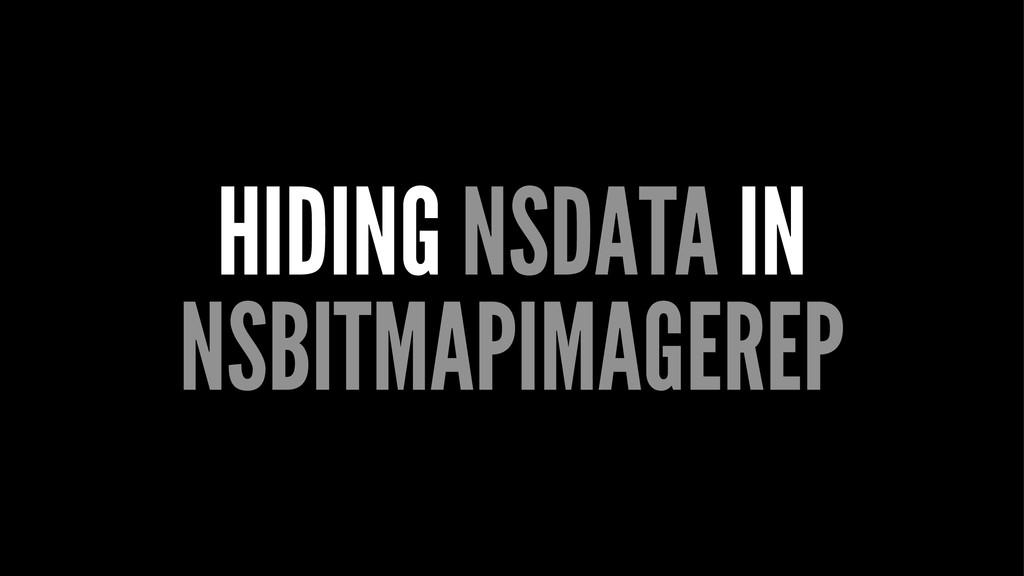 HIDING NSDATA IN NSBITMAPIMAGEREP