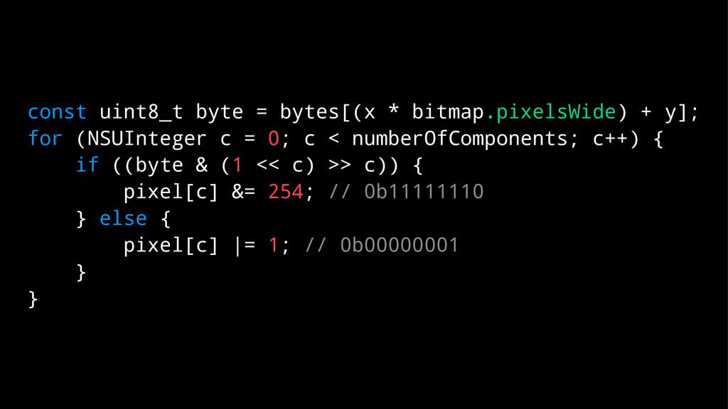 const uint8_t byte = bytes[(x * bitmap.pixelsWi...
