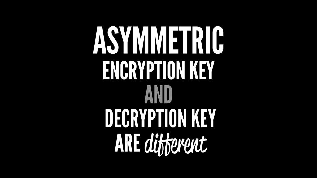 ASYMMETRIC ENCRYPTION KEY AND DECRYPTION KEY AR...