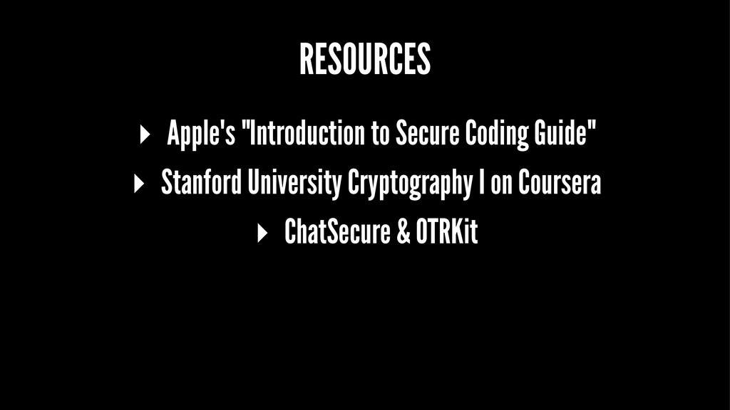 """RESOURCES ▸ Apple's """"Introduction to Secure Cod..."""