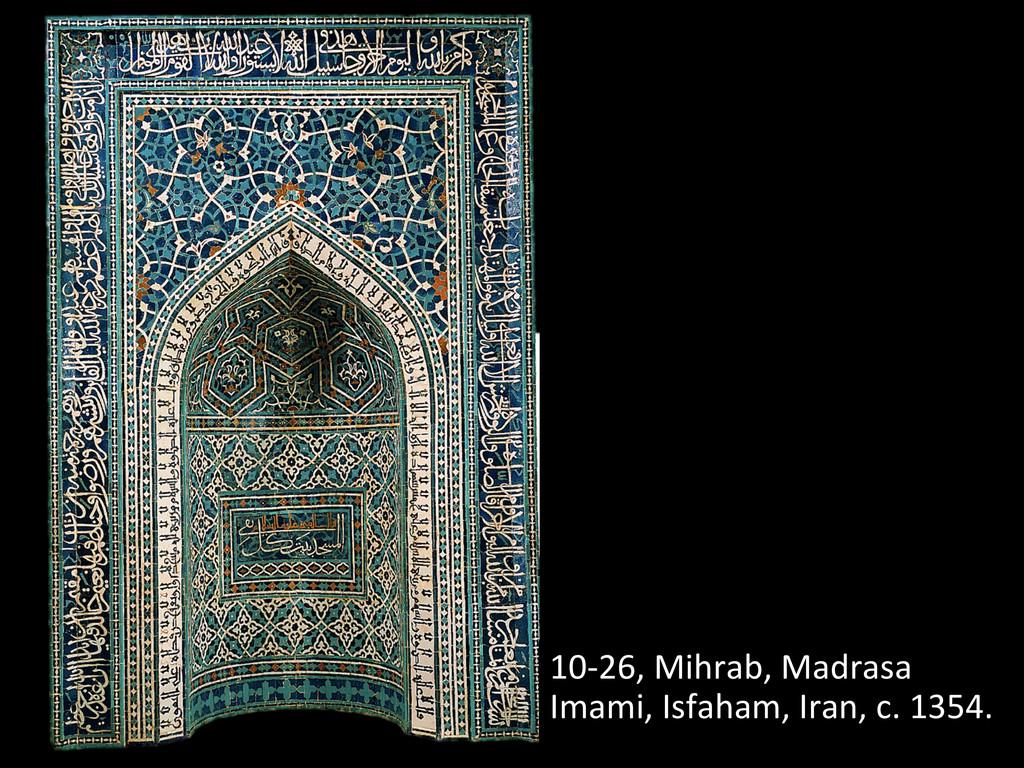 10-‐26, Mihrab, Madrasa  Imami, Is...