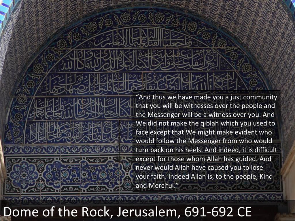 Dome of the Rock, Jerusalem, 691...