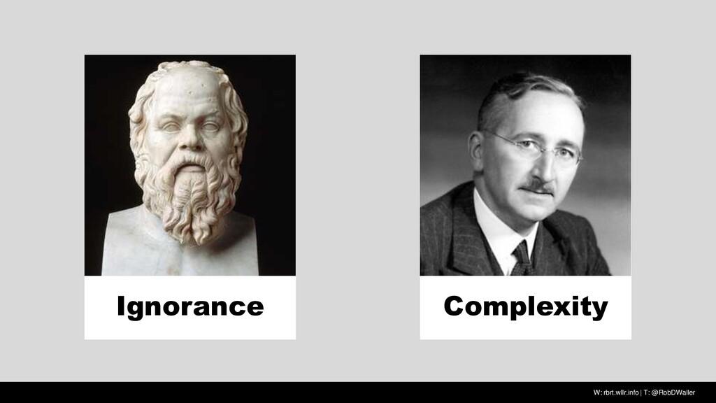 W: rbrt.wllr.info | T: @RobDWaller Ignorance Co...