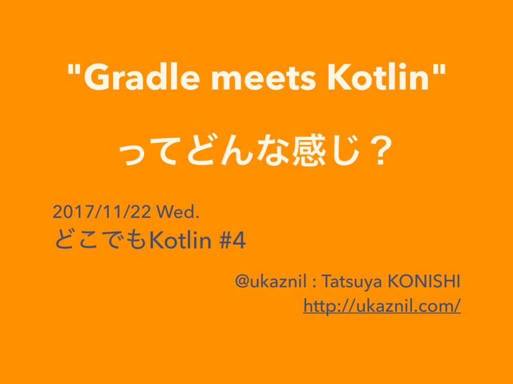"""Gradle meets Kotlin"" ͬͯͲΜͳײ͡ʁ 2017/11/22 Wed. ..."