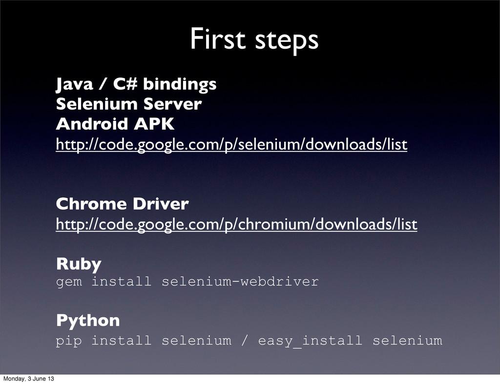 Java / C# bindings Selenium Server Android APK ...