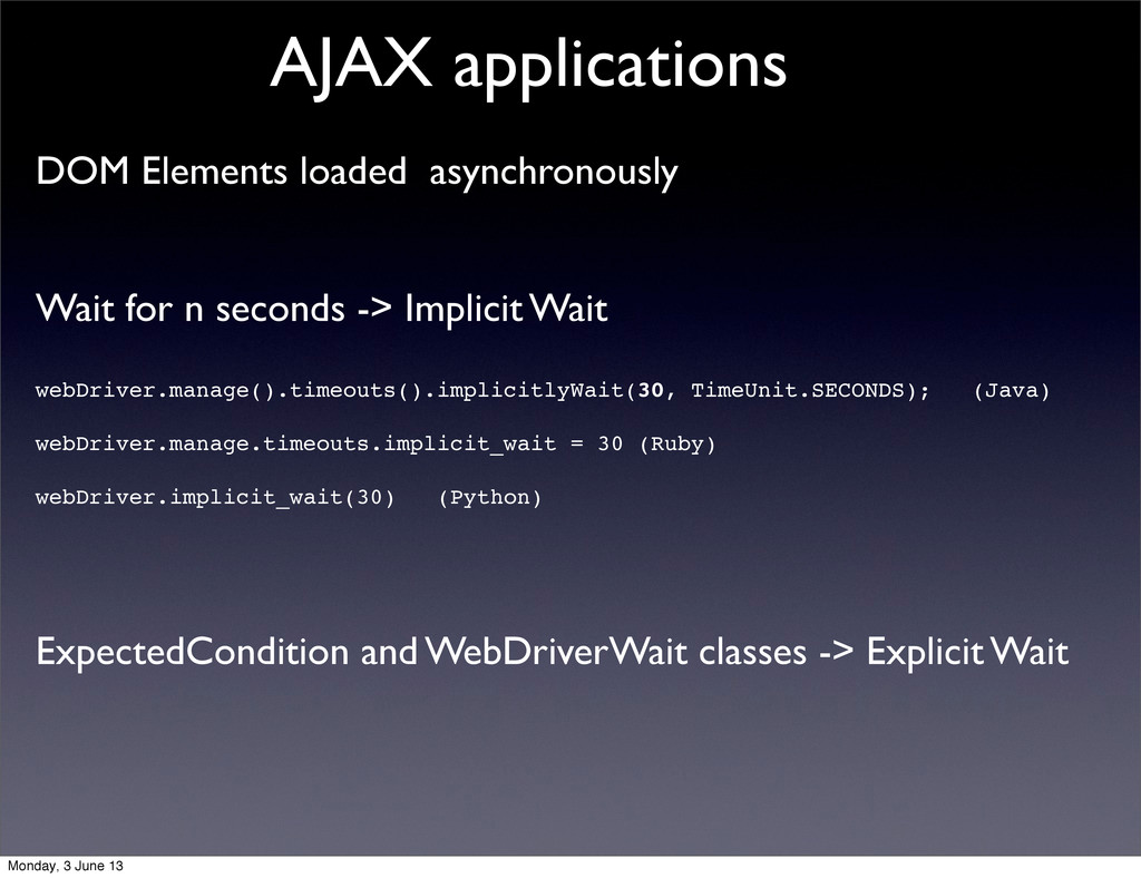 DOM Elements loaded asynchronously Wait for n s...