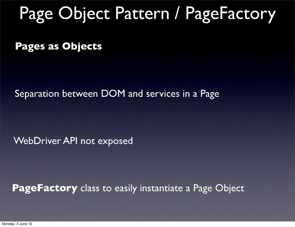 Pages as Objects Separation between DOM and ser...