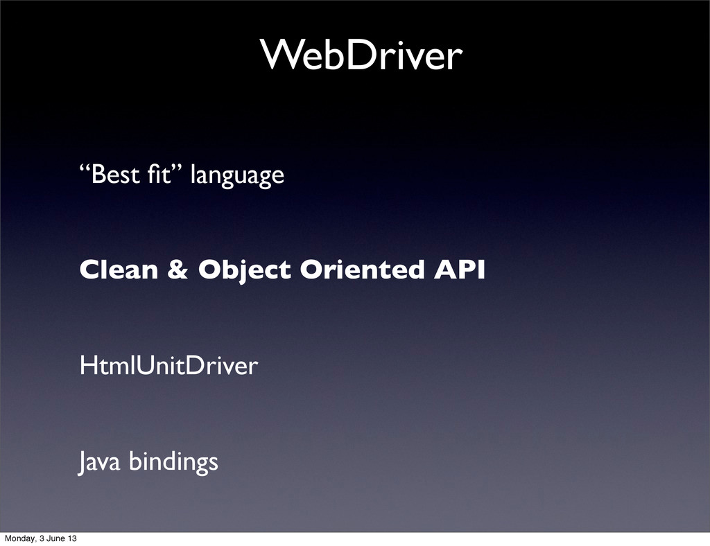 """""""Best fit"""" language   Clean & Object Oriented ..."""
