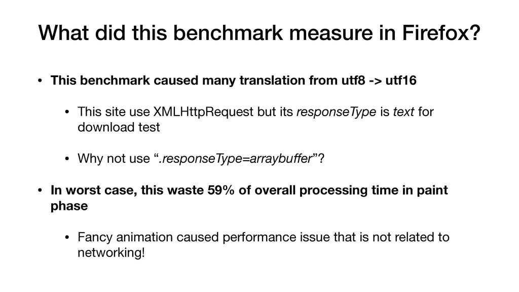• This benchmark caused many translation from u...