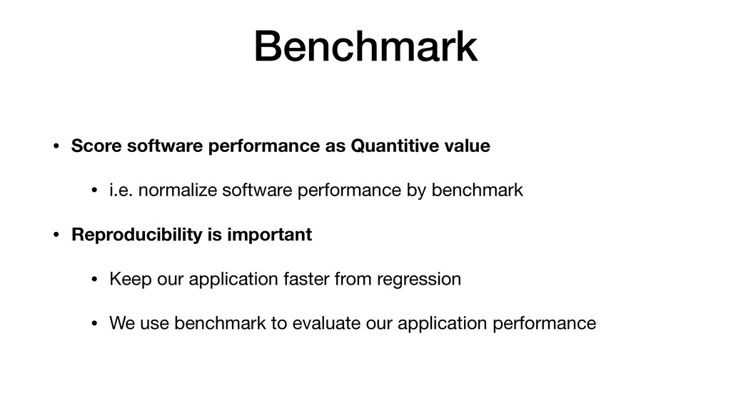 Benchmark • Score software performance as Quant...