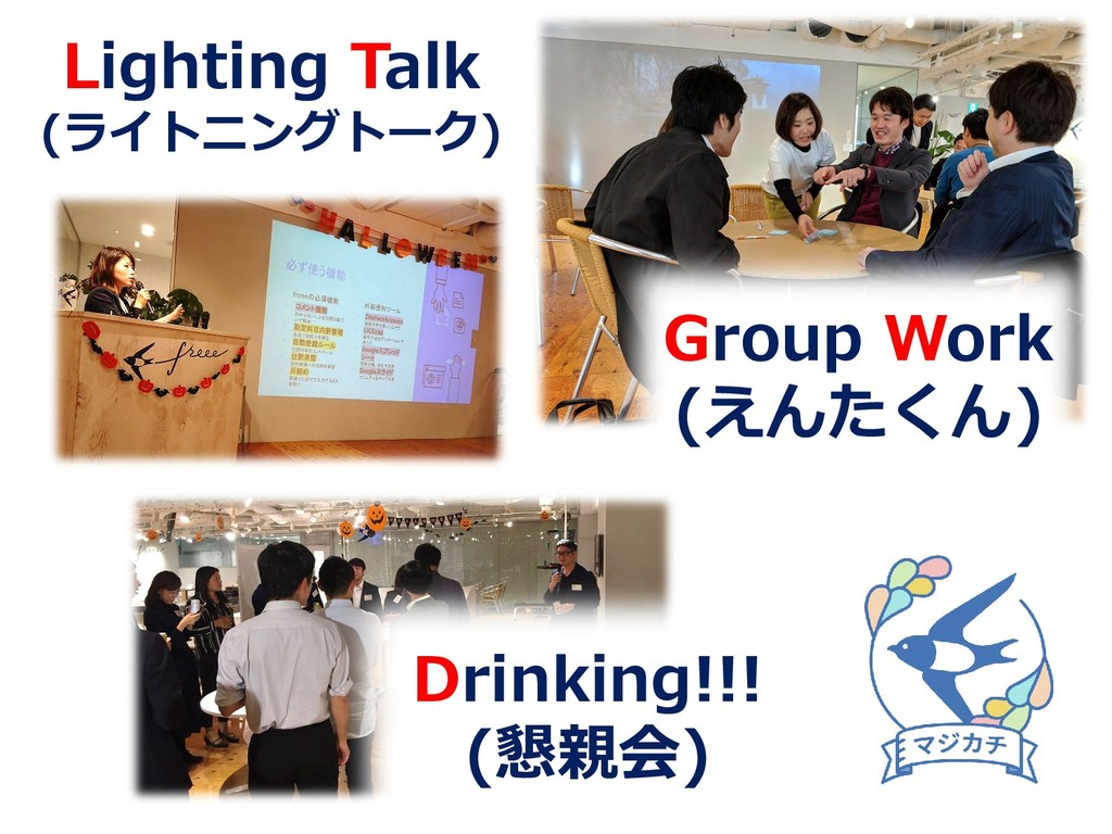 Lighting Talk (ライトニングトーク) Group Work (えんたくん) Dr...
